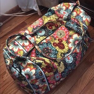 Disney Vera Bradley Mickey's Perfect Petals Duffle